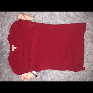 Burberry red shirt